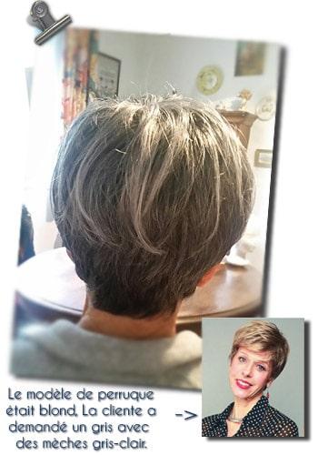coiffeuse pour perruque médicale